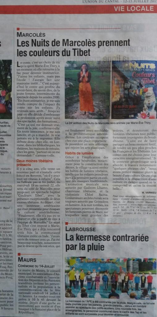 article union 2017 nuits de Marcolès