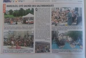 l'union du cantal article 16-19 aoüt 2017_ festival léz'arts de la rue